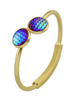 Fish Scale Embellished Open Cuff Bracelet