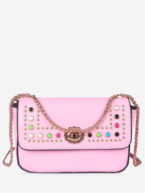Flapped Studs Crossbody Bag - Rosa  Mobile