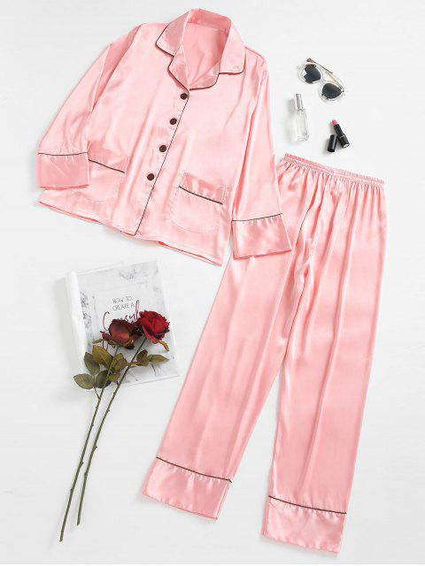 shops Two Piece Satin Sleep Set - PINK M Mobile