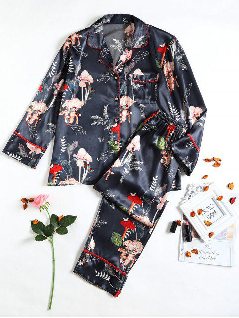 women Bird Printed Sleep Suit - INK BLUE XL Mobile