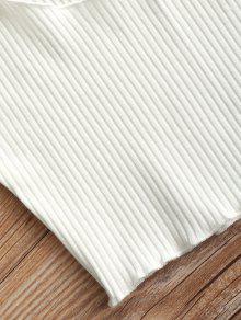 Mangas De Blanco Sin Camiseta Acanalada Tirantes qHt4Uw1