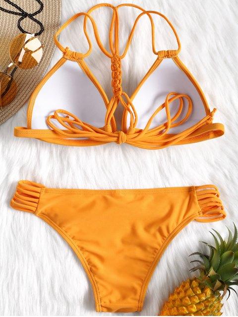Conjunto de bikini con copa moldeada Strappy - Naranja S Mobile