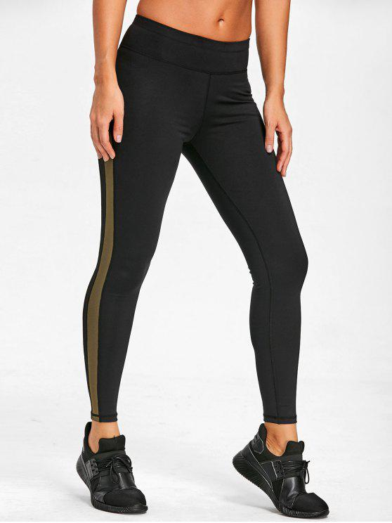 outfit Mesh Insert Sports Leggings - ARMY GREEN M