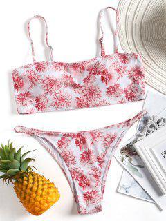 Bandeau Floral Swim Top Y Pantalones Cortos - Floral S