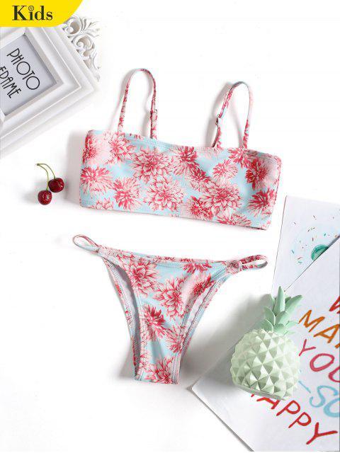online Cute Floral Kid Cami Bikini Swimwear - FLORAL 6T Mobile