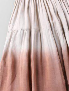 04767825f6 70% OFF  2019 Bohemian Ombre Wrinkle Maxi Tiered Dress In COLORMIX L ...