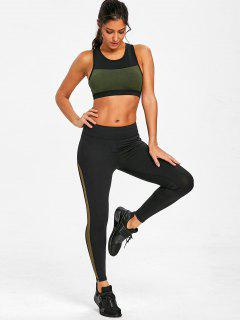 Padded Racerback Sports Bra - Army Green L