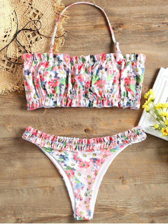 outfit Ruffle Print Bikini Set - COLORMIX XL