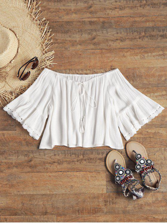 Top Crinkly Top a maniche corte - Bianco M