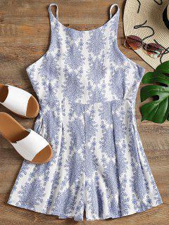 Impreso Tie Cami Romper - Blanco M