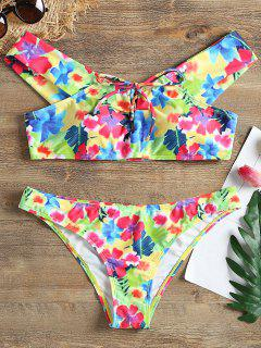Floral Off Shoulder Bikini Set - Xl