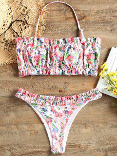 Ruffle Print Bikini Set - L