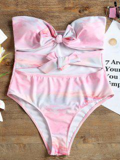 Bandeau Bow One Piece Swimwear - Pink Xl