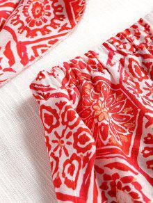 Pantalones A Estampado Y Rayas Rojo Top De Playa Cortos L wq4CSnIxTg