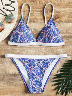 Maillot De Bain Bikini Rembourré à Motifs - M
