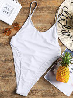 Bralette High Cut One Piece Swimsuit - White L