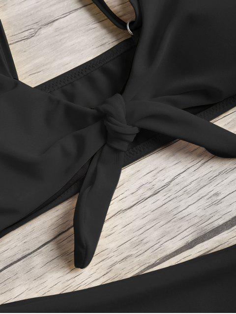 Set de Bikini con Nudo Acolchado - Negro S Mobile