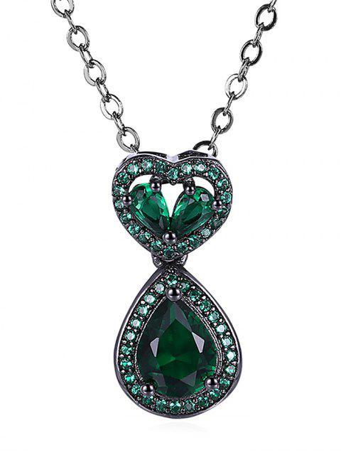 Collar de cadena de imitación de ónice - Verde  Mobile