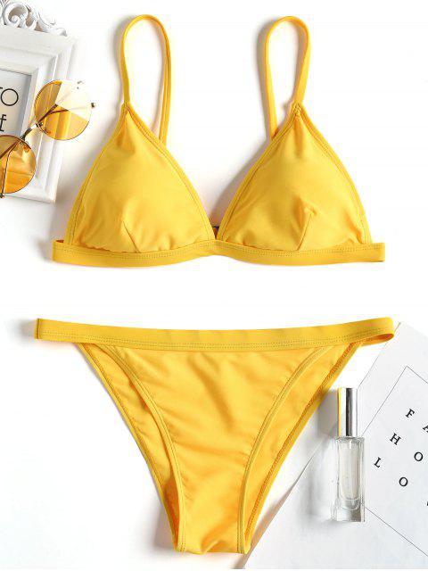 Traje de baño acolchado Cami - Amarillo S Mobile