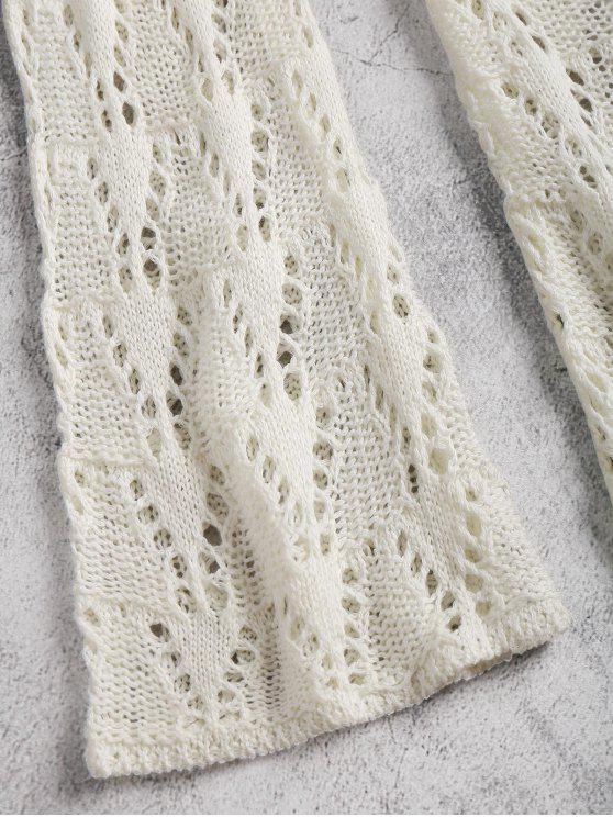 white Dress Long Lace up Off Crochet Sleeve fHBUYZx