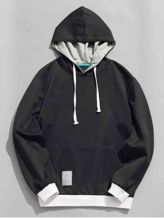 outfit Label Pullover Hoodie - BLACK 2XL