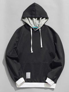 Label Pullover Hoodie - Black 2xl
