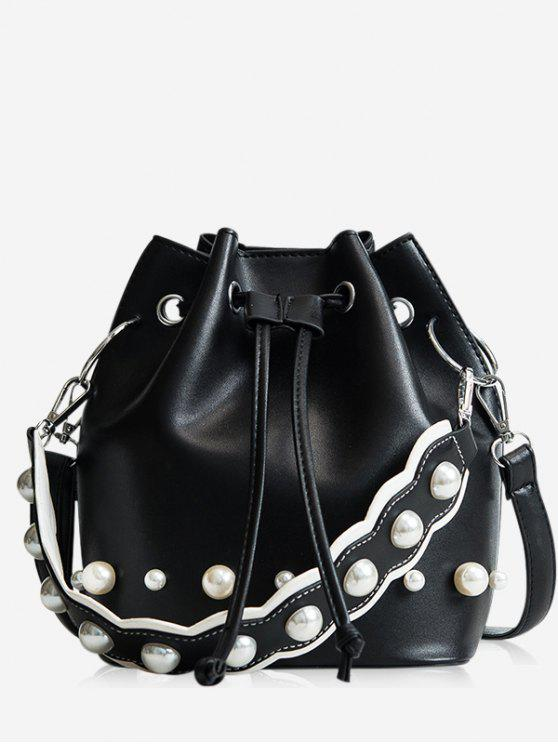Corda Casual Bucket Bag - Preto