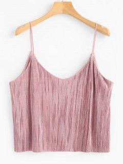 Camiseta Sin Mangas Plisada Fluida - Color De Pasta De Frijol S