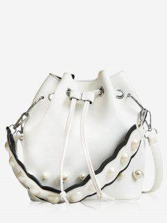 String Casual Bucket Bag - White