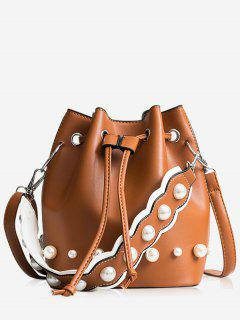 String Casual Bucket Bag - Brown