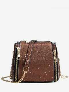 Shimmering Chain Crossbody Bag - Sugar Honey