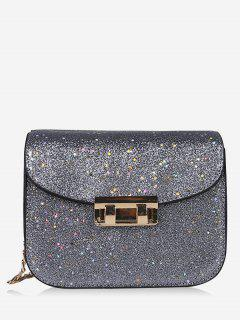 Chain Chic Sequins Crossbody Bag - Gray
