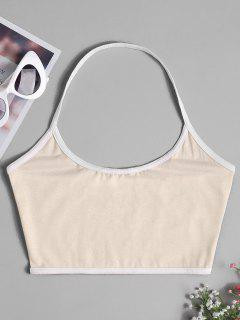 Open Back Crop Top - Off-white S