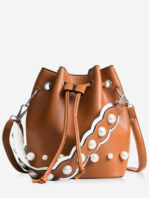 chic String Casual Bucket Bag - BROWN  Mobile