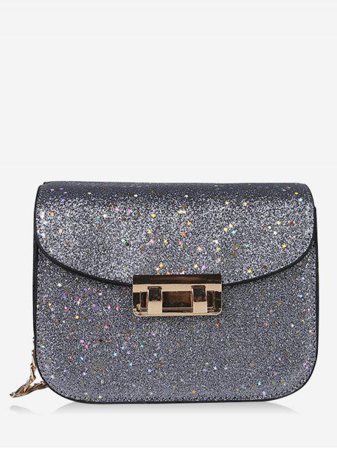 women Chain Chic Sequins Crossbody Bag - GRAY  Mobile