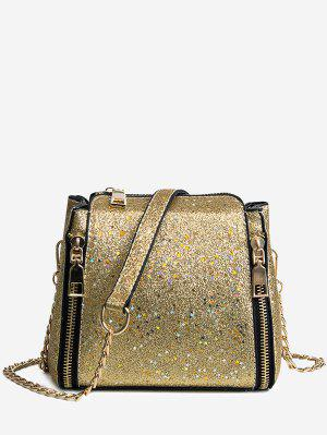 Schimmernde Kette Crossbody Tasche