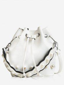 سلسلة حقيبة دلو عارضة - أبيض