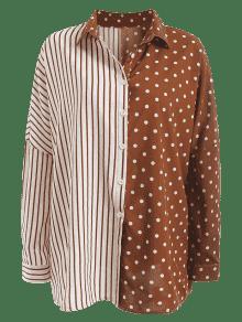 Dot M 243;n Shirt Oversized Marr Y Stripe Blanco Contraste Imprimir rxwTqCr76z