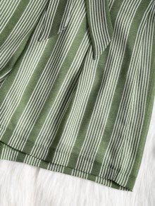 De De M Criss Verde Alta Cortos Cintura Cruzadas Pantalones Rayas De Y Alta Cintura 1fawvq5