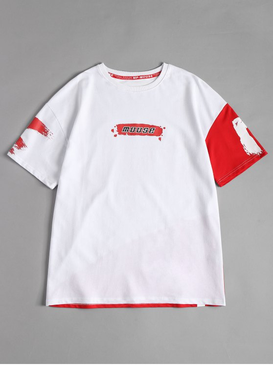 new Splash Mouse Graphic Tee - WHITE L