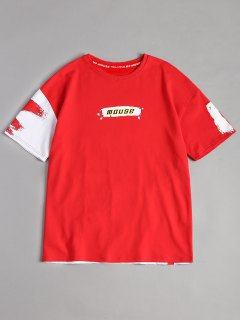 Splash Mouse Graphic Tee - Red Xl