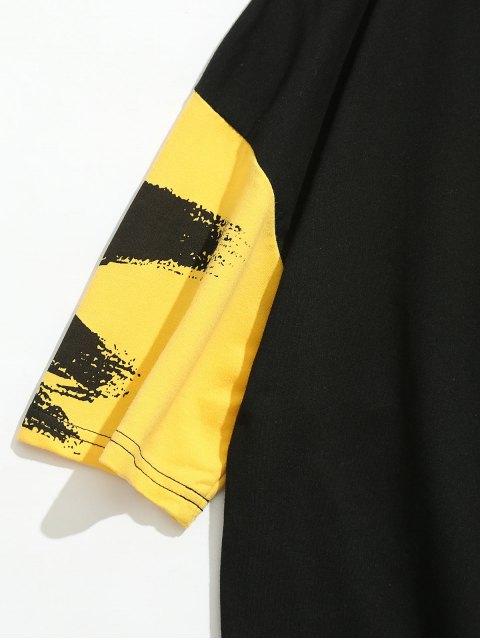 Camiseta Gráfica Splash Ratón - Negro XL Mobile
