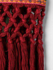 Rojo Bohemio Estampado Sin L Mangas Top xga7Iqvq
