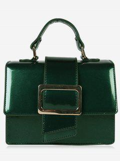 Minimalist Glazed Handbag With Shoulder Strap - Green