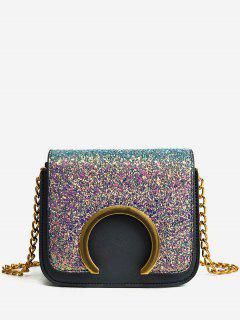 Metal Detail Paillette Mini Crossbody Bag