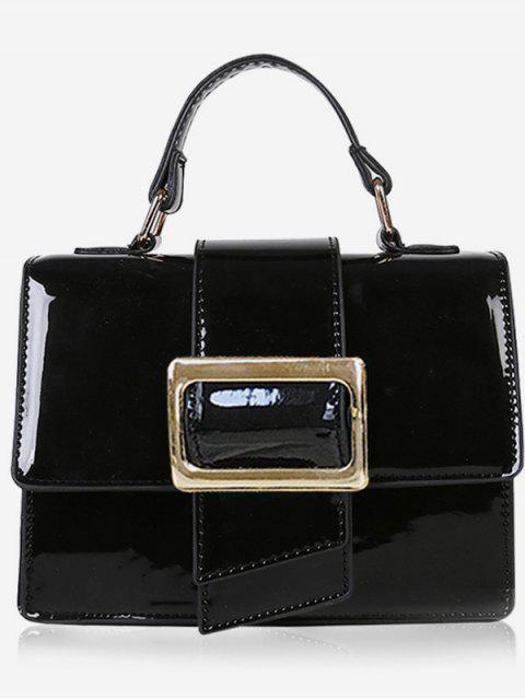 Minimalistische Reflaktiert Handtasche Mit Schulter Riemen - Schwarz  Mobile