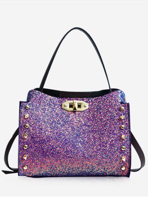 new Studded Rivet Detail Paillette Shoulder Bag - DAZZLING  Mobile