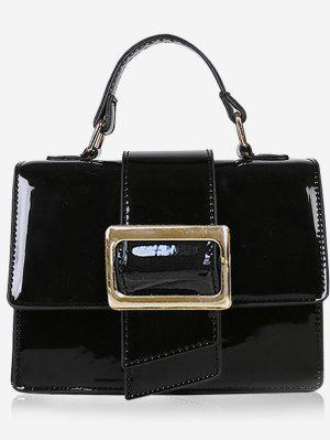 Minimalist Glazed Handbag with Shoulder Strap