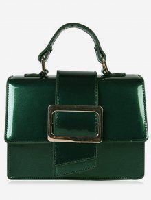 حقيبة يد مزججة مع حزام كتف -