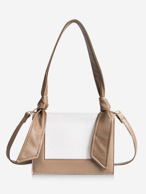 Minimalist Contrasting Color Shoulder Bag